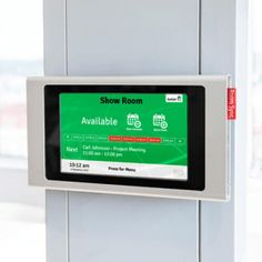 If you want o create the best huddle room or huddle space you might fibd having a meeting room booking system like the Intevi Room Sync is beneficial, allowing you to book, unbook, and view availability from your desktop or personal device – as well as from the room itself. Read more by clicking the image: