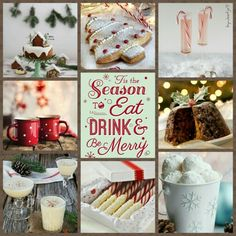 Tis the season to eat drink & be merry! #moodboard #mosaic #collage #inspirationboard #byJeetje♡