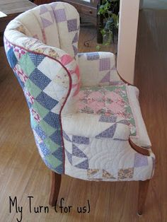 Patchwork Quilt Chair...LOVELOVELOVE THIS!!!!!!