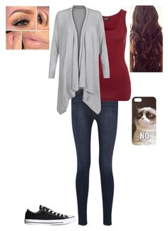 """Picture Day"" by loney5400 ❤ liked on Polyvore featuring J Brand, Scoop, Cameo Rose, Converse and Forever 21"