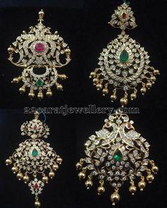 Jewellery Designs: Closed Setting Diamond Pendants