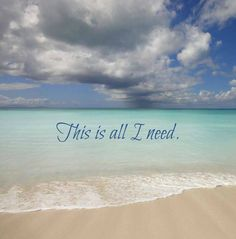 This is all I need... the beach