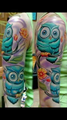 Totally changed my mind for my owl tattoo. This is just a hint. Not going to look like this ;-)