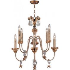 A stunning French inspired chandelier which is a subtle mix of time worn textures and quietly elegant shapes that combine together to hint at the secret luxury of times gone by.