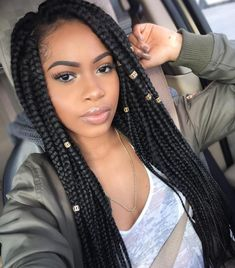 Long Box Braids With Beads                                                                                                                                                                                 More