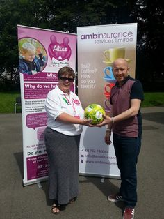 Steph with Andy from AMB Insurance at the Summer Sizzler June 2014