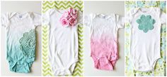 V and Co.: V and Co: how to: baby girl onesies: dyeing with rit dye