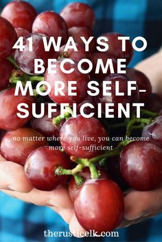 Dreaming of becoming more self-sufficient? Start today, no matter what your situation! Here are 41 ways to become more self-sufficient today!