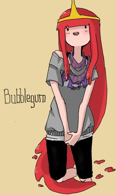 Adventure Time - Bubblegum idk why her hair is red but coolios lets pretend it's edible cool-aid Adventure Time Shirt, Adventure Time Anime, Abenteuerzeit Mit Finn Und Jake, Adveture Time, Time Art, Prince Gumball, Marceline And Princess Bubblegum, Land Of Ooo, Finn The Human