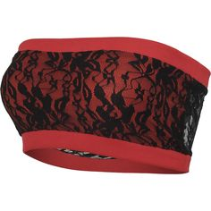 "Black Premium by EMP Bandeau, Femme ""Ladies Long Laces Bandeau"" rouge/noir • EMP"