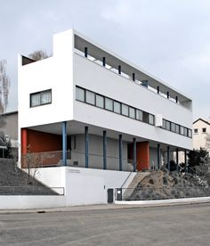 House for the Weissenhofsiedlung in Stuttgart, Germany in 1926 by Le Corbusier