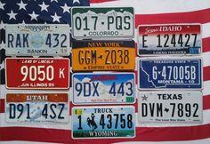 10 USA nummerplaten nummerborden kentekenplaten license plates  Lot van 10 mooie nummerplaten uit 10 verschillende staten.U biedt hier op 10 verschillende USA nummerplaten. Deze platen zijn 100% origineel en gebruikt desondanks verkeren ze in een goede conditie. Kijkt u goed naar de foto's alvorens een bod uit te brengen. De afmetingen van de nummerplaten zijn 30 x 15 cm.Deze Amerikaanse nummerplaten zijn leuk ter decoratie en een mooie start/aanvulling voor een collectie. Ik…