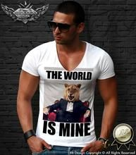 The World Is Mine Men's T-shirt Angry Lion Scarface Parody RB Design Tank Top MD399
