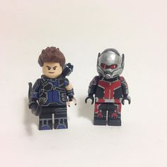 Custom Civil War Ant man and Hawkeye for #jerdfigs500 . #antman #hawkeye #civilwar #lego #custom #minifigure #marvel by daring_customs