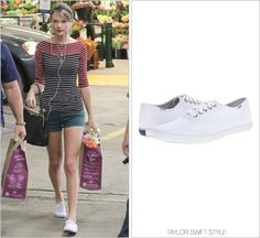 Leaving Whole Foods | Beverly Hills, CA | January 17, 2014 Keds 'Champion Sneaker' - $45.00 Taking a more casual spin than her previous cand...