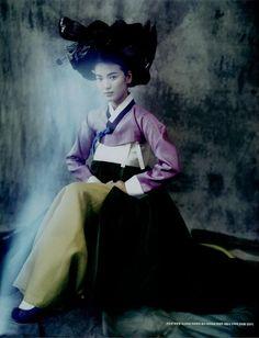 """""""Hwang Jin Yi in Paris"""" by Paolo Roversi Vogue Korea"""