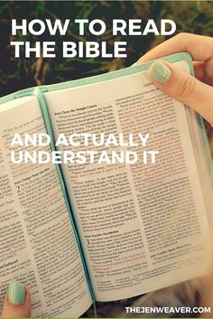 How to read the Bible and actually understand. Great tips!