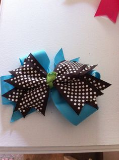 Bow made by Traci Torrenti it costs $6.00 it's one of my favorites