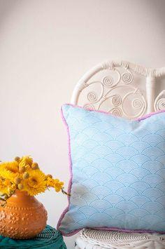 RAINBOW SCALES Bed Pillows, Cushions, Color Splash, Vibrant, Rainbow, Colours, Handmade, Design, Pillows