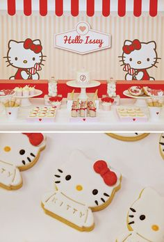Cute Red & White Hello Kitty Party