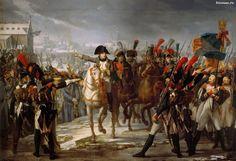 Napoleon leads an army across the river Lech near Augsburg (12 October 1805). The artist Claude Gautherot / Наполеон ведет армию по мосту через реку Лех близ Аугсбурга (12 октября 1805 года). Художник Клод Готро.