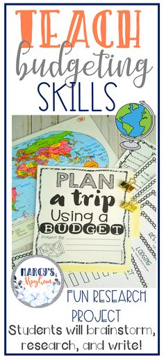 This project is great for 3rd, 4th and 5th graders to learn about a budget. Being on a budget is important for student's to understand. Teach your class about budgeting by planning a vacation. This is a research activity that will last several class periods. Students will brainstorm, plan, write & present! #mathproject #budgetingskills