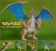 Pokemon - Mega Charizard Y Ver.2 Free Papercraft Download - http://www.papercraftsquare.com/pokemon-mega-charizard-y-ver-2-free-papercraft-download.html#Charizard, #MegaCharizardY, #Pokemon