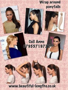 Wrap around ponytails Hair Extensions For Sale, Wrap Around, Ponytail, Pony Tails, Cola De Caballo, Pigtail Hairstyles, Horse Tail, Pony