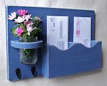 Mail Organizer - Mail Holder - Letter Holder - Mail Holder With Key Hooks - Jar…