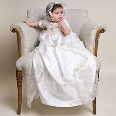 Kristina 2pc Christening Gown(Girl) | Heirloom Baptism Clothes & Dresses