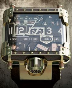 Devon tread 1 steampunk watch, on Watchismo Times