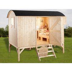 WOLFF FINNHAUS Spielhaus Camping Bauwagen (410700)