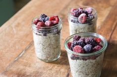 Steel Cut Oats in a Jar with Berries and Flax Seeds