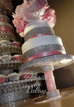 DECORATE MY WEDDING  Crystal Drop Buffet Stands
