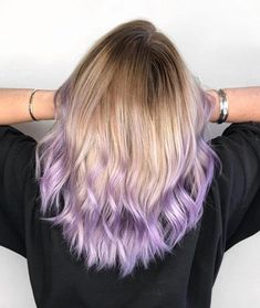 22 stunning purple ombre hair color ideas for 2020 - pastel purple ombre - . - 22 stunning purple ombre hair color ideas for 2020 – pastel purple ombre – # stunning - Purple Blonde Hair, Pastel Purple Hair, Light Purple Hair, Brown Ombre Hair, Lilac Hair, Hair Color Purple, Hair Dye Colors, Hair Color For Black Hair, Cool Hair Color