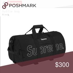 newest cc224 365f0 Shop Men s Supreme Black size OS Duffel Bags at a discounted price at  Poshmark. Description  Brand new still in bag Supreme duffle bag.