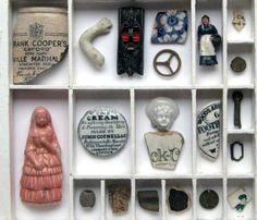 Collection of items found along the foreshore of the Thames by ThamesArt.
