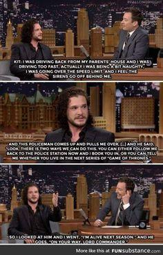 Jon snow's how to evade cops