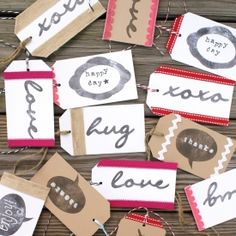 Learn how to make your own custom stamps for handmade gift tags using Silhouette stamping material.  Tutorial includes free studio cut file.