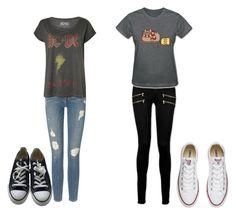 """""""so bored"""" by katsavy on Polyvore featuring Paige Denim, Pusheen, Frame Denim and Converse"""