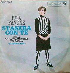 Rita Pavone - Stasera Con Te at Discogs Girl Group, Songs, Celebrities, Cheesecake, Tights, Stockings, Stripes, Film, Celebs