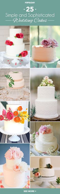 Sweet and Simple: 25 Wedding Cakes For the Minimalist Couple