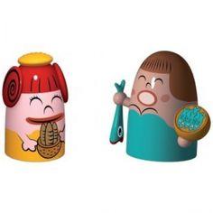 Alessi kerstfiguren Pina Farina & Fiona Fish