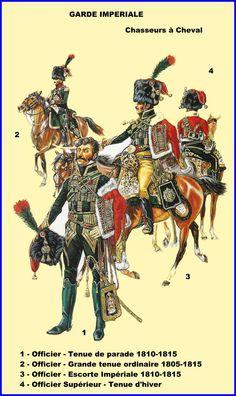 Chasseurs à cheval de la Garde Impériale.