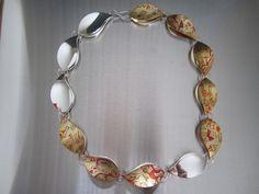 Necklace Silver and mokume-gane Anticlastic raising Juha Koskela design www.juhakoskela.com