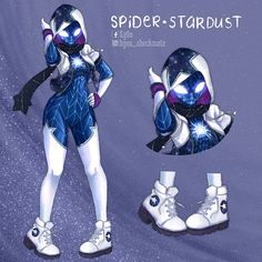I recently saw and I decided to create my own version using that hashtag -w- Spider Art, Spider Verse, Costume Super Hero, Character Concept, Character Art, Spiderman Costume, Superhero Design, Image Manga, Marvel Art
