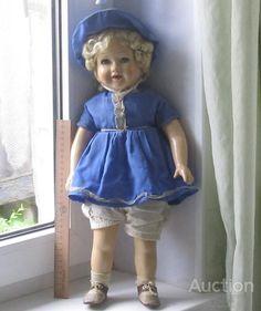 Кукла 50-ых. Прессованные опилки. г. Харьков. Состояние!