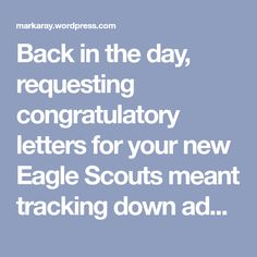 Eagle Scout Letters Go Digital Eagle Project, Writing Letters, Eagle Scout, Back In The Day, Boy Scouts, Stuffing, Envelopes, Digital
