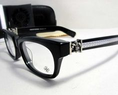 fc8572c9c8f Big Chrome Hearts Cross Black Leather Wallet with Two Windmill Rivets Heart  Glasses