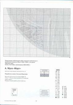"Borduurpatroon Kruissteek ""De Maanden"" van Alfons Mucha *Cross Stitch Pattern ""The Months"" ~Maart 4/5~ Art Deco, Crafts, Women, Needlepoint, Women's, Crafting, Diy Crafts, Craft, Arts And Crafts"
